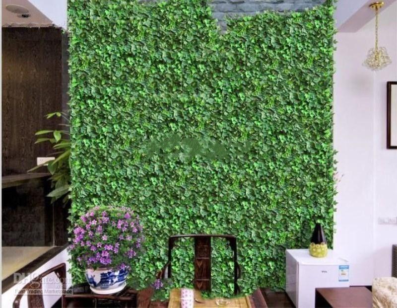 2017 New Fashion Home Wall Decor Wall Hanging Plant Vine Artificial Silk Climbing Ivy Rattan Wedding Christmas Garlands Ornament Supplies