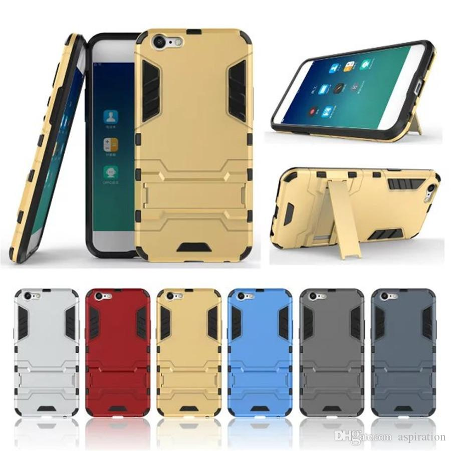 new concept 20e02 1d788 Armor Heavy Duty Case for OPPO A39 Tough Hybrid Full Body Rubber Heavy Duty  Shockproof Cover with Hard Back Shell with Kickstand