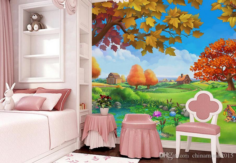3d wall murals wallpaper for kids room Forest Castle Fairy tale world children's room room modern wallpape