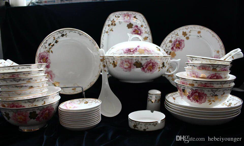 Differences in color maybe caused by some other reasons such as color reflection in the monitorlighting background .etc. Howeverif you believe that the ... & Dinner Set / Luxury/ Tableware/Ceramic/Porcelain/Blossom/Bone China ...