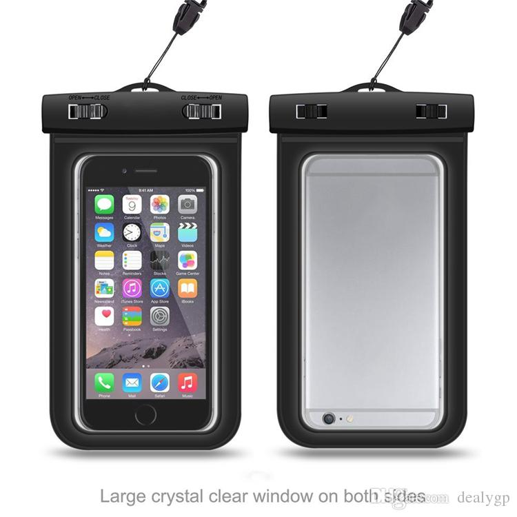sports shoes c0ce4 94901 Clear IP68 WaterProof Bag Protective Cell Phone Case Pouch Underwater  Diving Swimming Sports for Smart Phone Up to 6.0 Inch