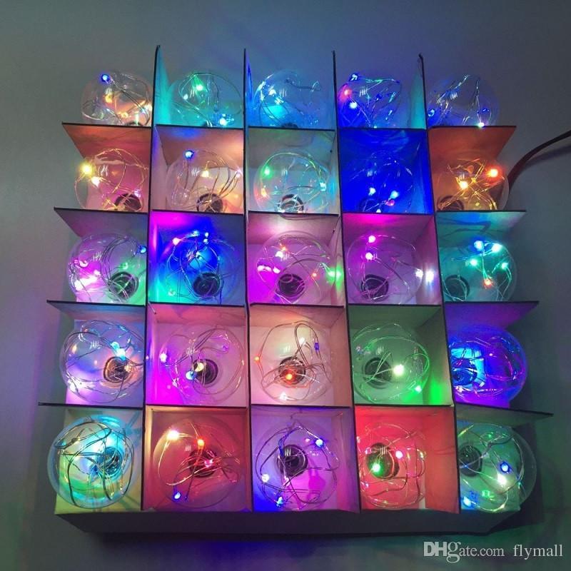 Luces de Navidad G40 Globo Cadena de luz 25LED Bombilla Decorativa al aire libre Luces de cadena de alambre de cobre para jardín, patios, decoración del hogar, boda