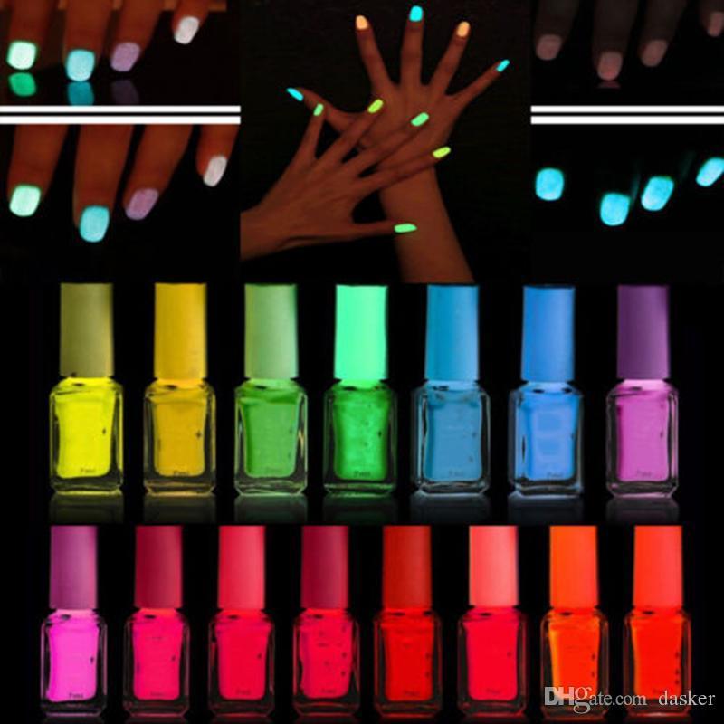 Wholesale Fluorescent Neon Luminous Nail Polish Dark Shiny Nail ...