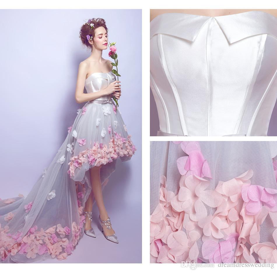 High End Custom 2017 Beach Wedding Dresses Unique Design Petals ...