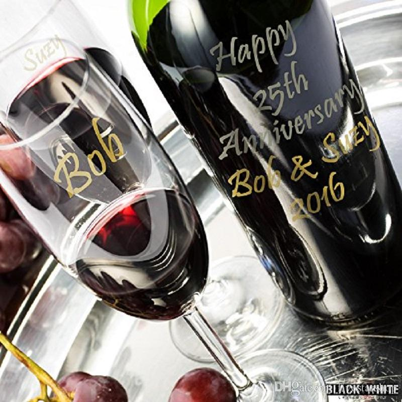 Custom Personalized Wedding & Event Vino Marker Metallic Wine Glass Pens DIY Your Cup or Mark Your Wine Or Any Glass Bottles