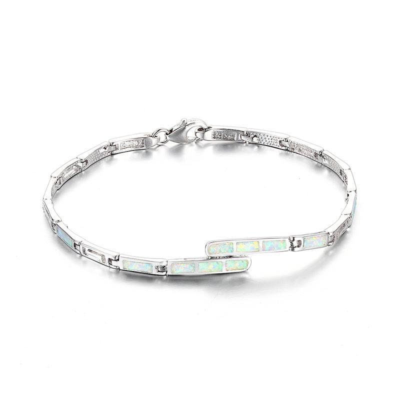 925 Sterling Silver Opal Pulseira 2016 Novo Estilo Europeu de Noivado Casamento Marca Gw Jóias Fb091