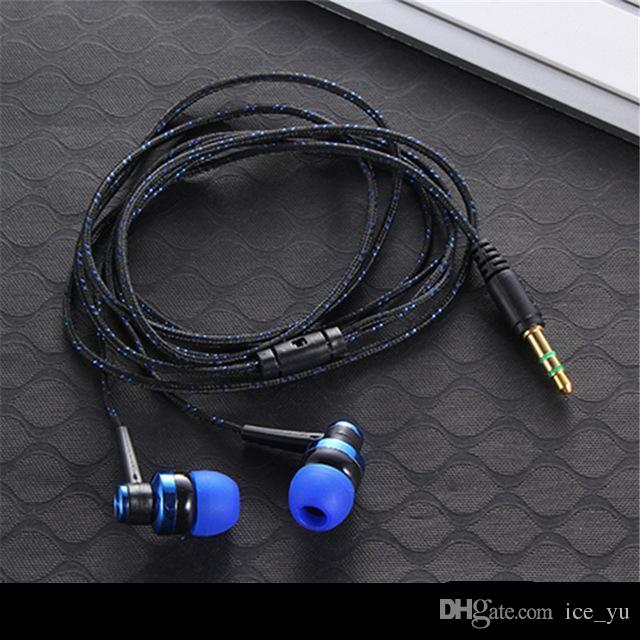 New Arrival fashion Noodles Style Music Earphones Inner Micphone Line controller Noise Cancelling Earbuds Headset for Mobiles