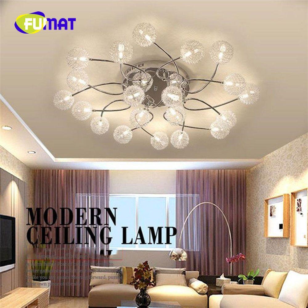 2018 Fumat Modern Led Bulb Lamp G4 Crystal Aluminum Wire Ceiling ...