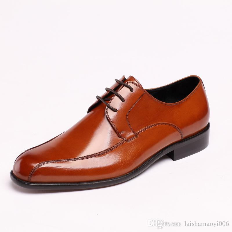 2017 New Fashion Men's Dress Shoes Genuine Leather Slip-on Dress Shoes Handmade Smoking Slipper Men Flats Wedding Party Shoes size 37-44