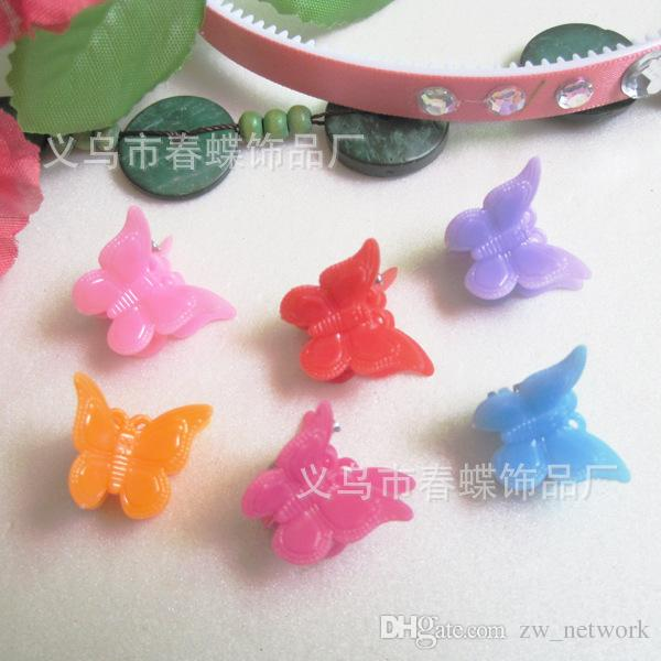mixed Color butterfly clips for kids Plastic Butterfly Mini Hair Claw Clips Clamp for Kids gift multicolor