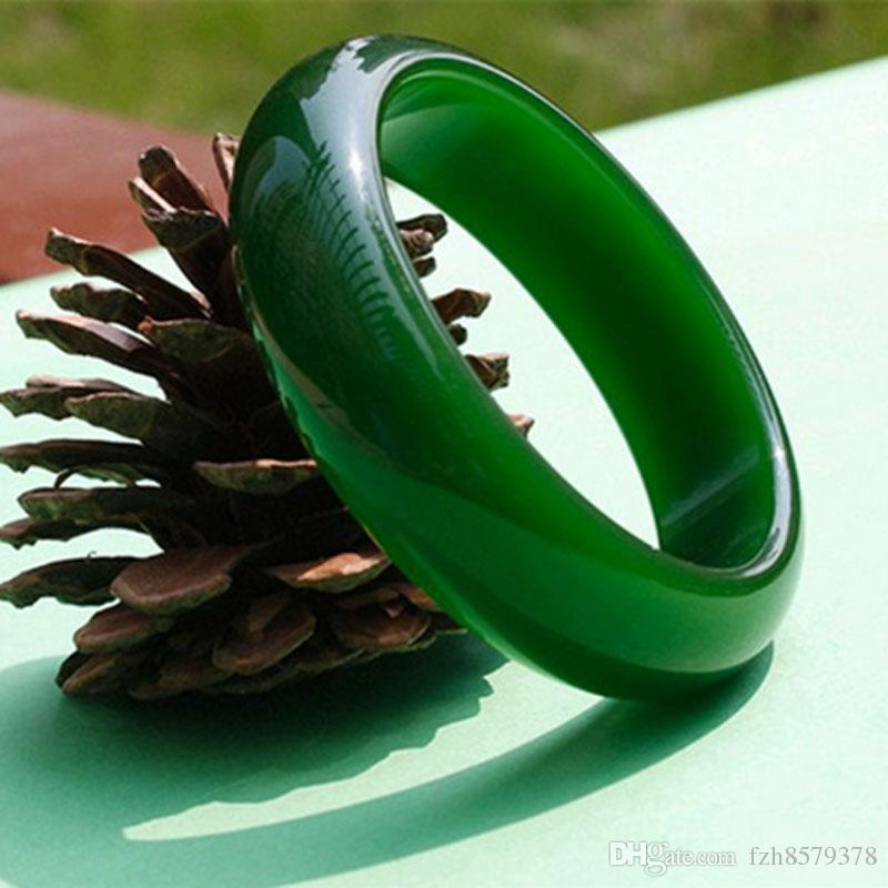 Новый Китай традиционная Хотан жадеит браслет нефрит браслет Изумрудный лед восковой вид ювелирных изделий шпинат зеленый для женщин