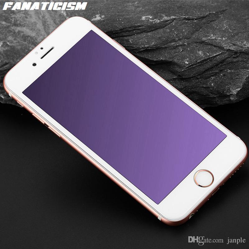 3D courbe pleine couverture anti-mauve Estompée en verre trempé écran de protection pour iPhone 11 XR Pro XS Max 6S 7 8 Plus