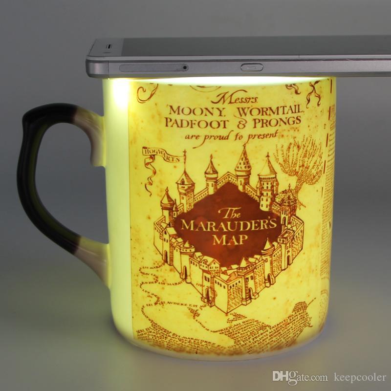 bone china harry potter marauders map mugs coffee cup heat changing