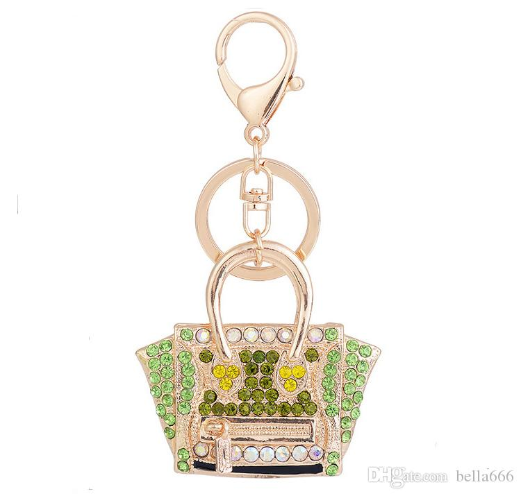 c86994a9cd6d 2019 Wholesale Custom Popular Exquisite Alloy Key Chain Female Rhinestone  Bag Handbag Car KeyRing Pendant Small Gift From Bella666