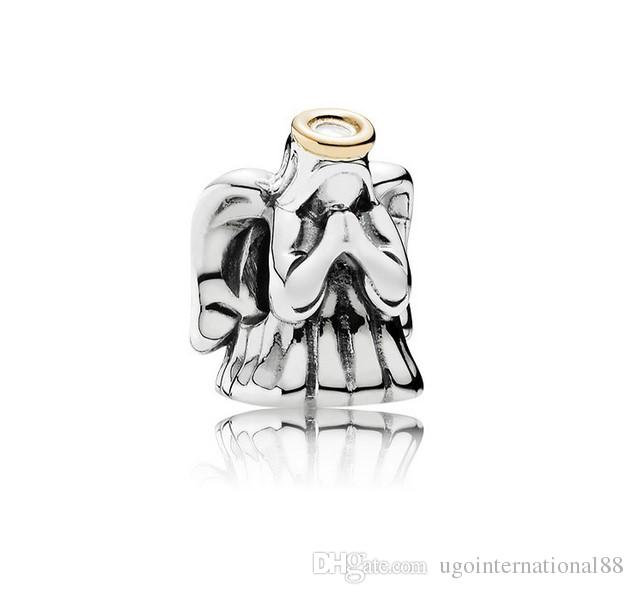 Fits Pandora Bracelets Angel Silver Charm Beads Charms Chamilia Compatible For Wholesale Diy European Necklace Snake Chain Bracelet