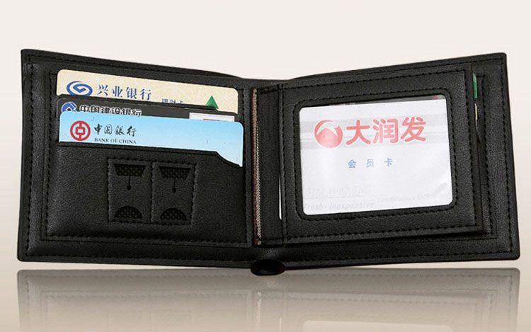 Wallets Gifts For Men Designer Wallet Mens Leather Wallet New Man Fashion High Quality Black Luxury Wallets Men Short Round Pattern 3266-1