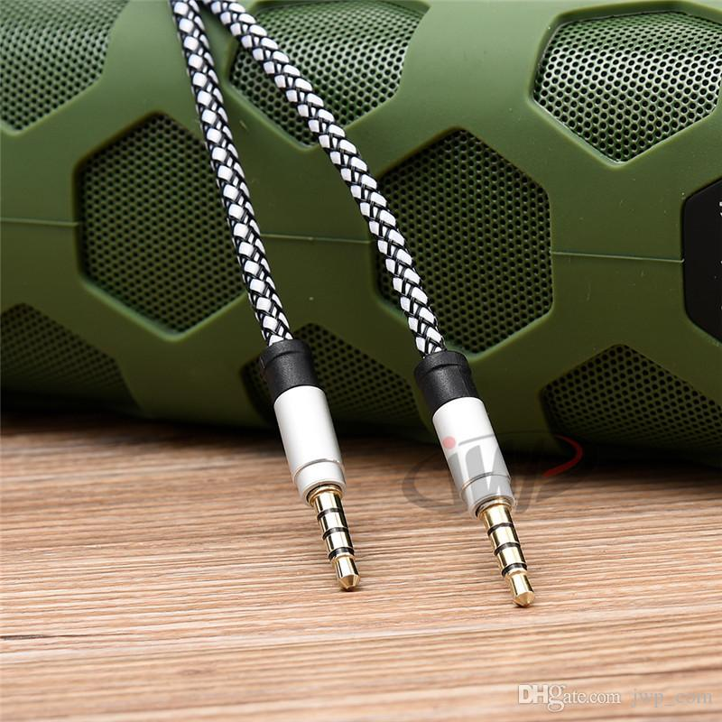 Braided Metal Audio Cable 1.5M Stereo Aux Aluminum Alloy for iPod Car Speaker iPhone Samsung Galaxy Smartphone