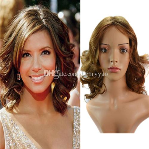 Short Sprial Curls Cheap Synthetic Hair Wigs Medium Side Bang Wig for Women Heat Resistant Synthetic Wig