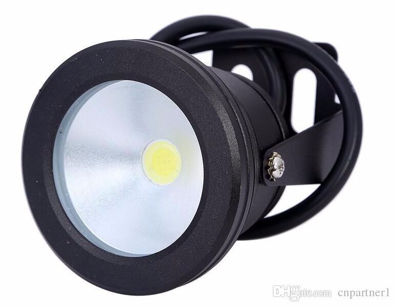 12V ou 110V 220V 10W RVB sous-marin IP68 LED lumière lampe d'inondation Pool Light ampoules fontaine Aquarium Projecteur chaud blanc lampe de spot de lavage