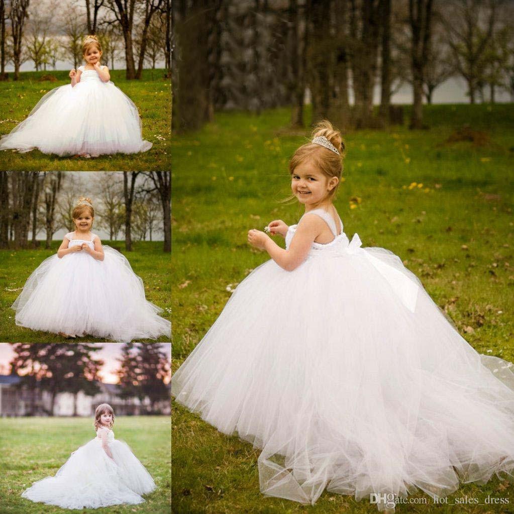 Mini Bridal Flower Girls Gown Wedding Dress