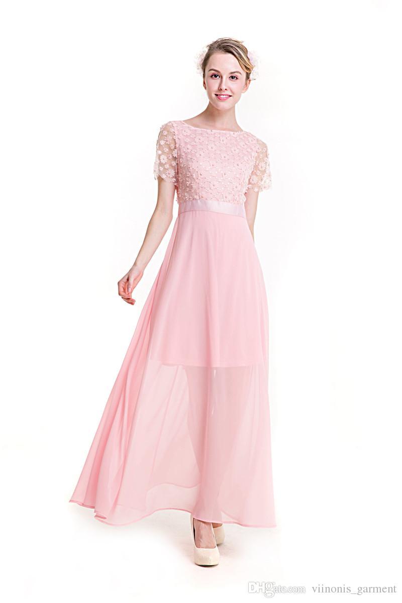 2018 Summer Dress Women 2017 Chiffon Patchwork Lace Floral Mesh ...