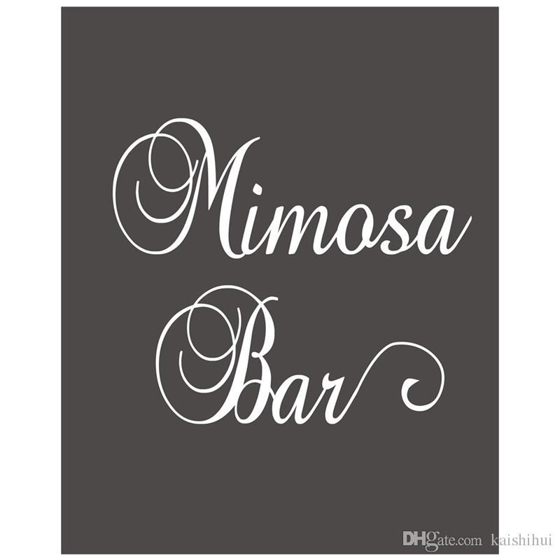 Compre Signo De Tiza Mimosa Bar Recepción De Boda Señalización ...
