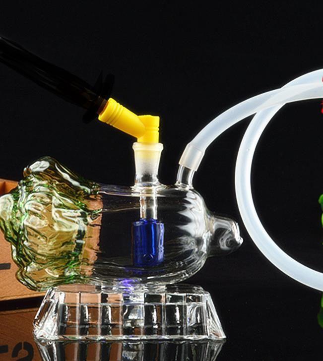 Yeni lahana cam nargile, pot aksesuarları göndermek, cam bong, cam nargile, sigara, renk tarzı rastgele teslimat