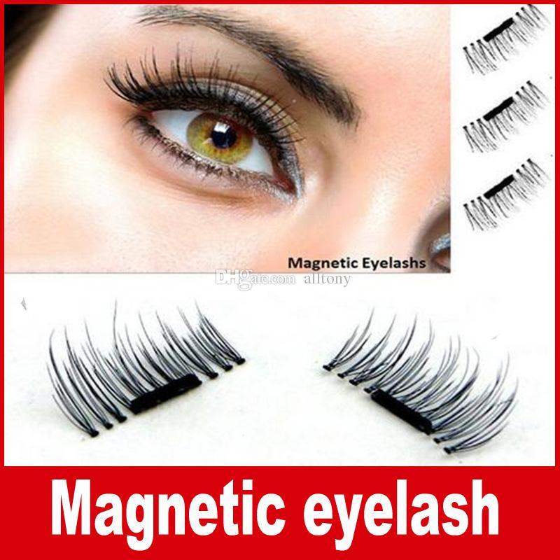 Magnetic Eye Lashes 3d Synthetic Reusable False Magnet Eyelashes