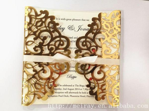 Wholesale Wedding Cards Invitation 2015 Royal Tapestry Laser Cut