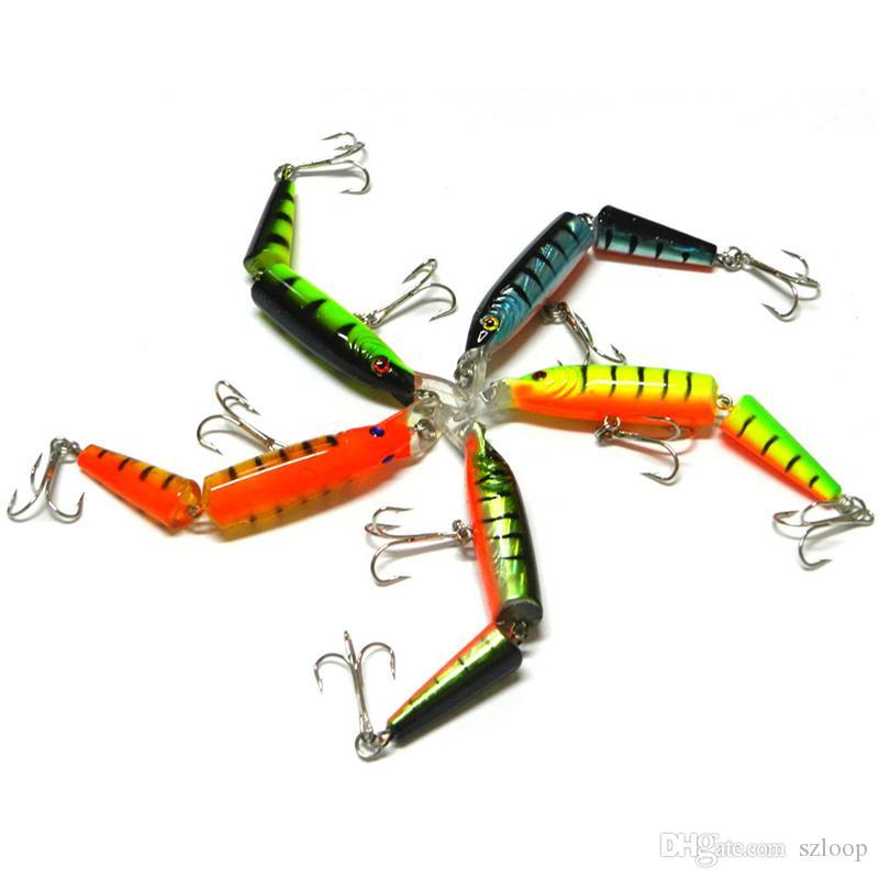 10.5 cm 9.6g 2 Sezioni Pesca Minnow Lure Esca Artificiale Ganci CrankBait Pesca Attrezzatura da pesca Plastica Bait Hard Bait i