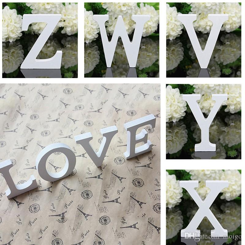 2017 A-Z Letras de madera de madera Alfabeto Palabra Free Standing Wedding Party Home Decor