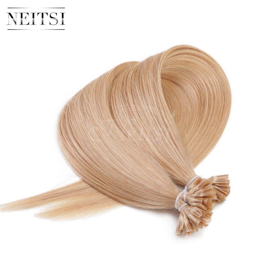 Neitsi 14# 24\'\' Keratin Sticks U Tip Nails Hair Extensions Straight ...
