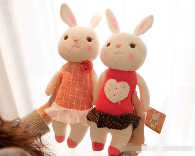 Toptan-Tiramisu peluş oyuncaklar Metoo bebek çocuk hediyeler 8 tarzı, Hediye Kutusu, Doğum günü Hediye ile 35cm Tavşan Doldurulmuş Hayvan LamyToy