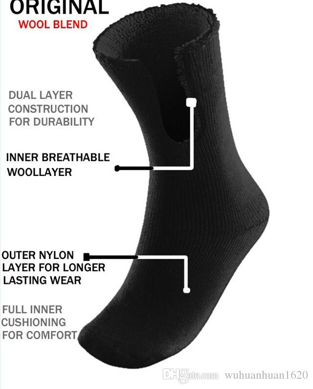 Merino wool men's winter thick thermal work socks top quality warm crew cushion men socks free delivery