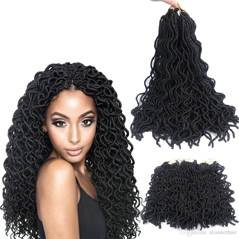 Discount 20 24 Rootspack Wavy Faux Locs Crochet Hair Extensions 6