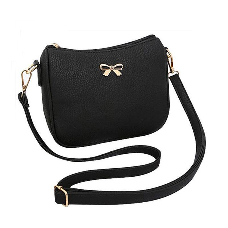 075183a9cb0c Nice High Quality PU Leather Small Women Bags Bowknot Designer Women  Messenger Bags Handbags Ladies Flap Shoulder Crossbody Bags Hobo Bags  Designer Bags ...