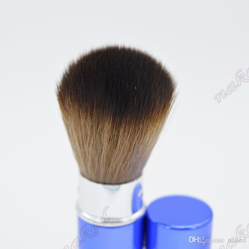 Pennello trucco con tubo rossetto Design telescopico borsa da trasporto, spazzolino polvere speciale Pennello cosmetico portatile crema BB i