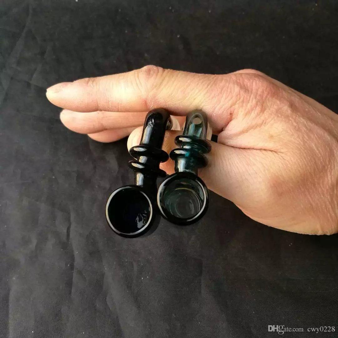 Acessórios de bongos de interface de duas rodas, exclusivo queimador de óleo de vidro Bongos de tubos de água de tubos de vidro de tubulação de petróleo plataformas de fumar com conta-gotas
