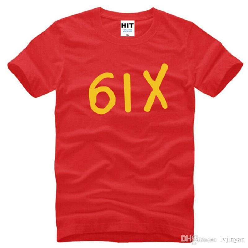 Nuevo Diseñador Seis Drake Camisetas Hombres Algodón de Manga Corta Drake Hiphop 6IX Camiseta de Los Hombres de Moda Rap Hip Hop Hombre Camiseta Swag