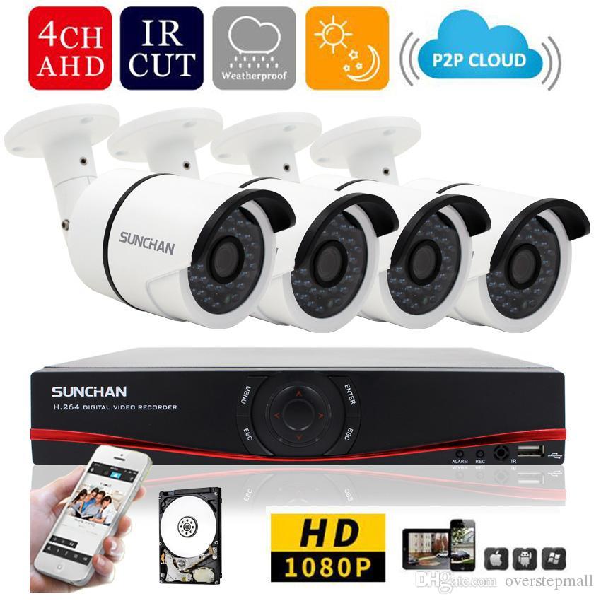 2b9f2d6666c3a Compre 4ch 1080 P AHD H DVR HD 2.0MP 1080 P Tempo Real Câmeras De Segurança  Ao Ar Livre De Vídeo DVR Kits CCTV Sistema De Vigilância 1 TB De  Overstepmall