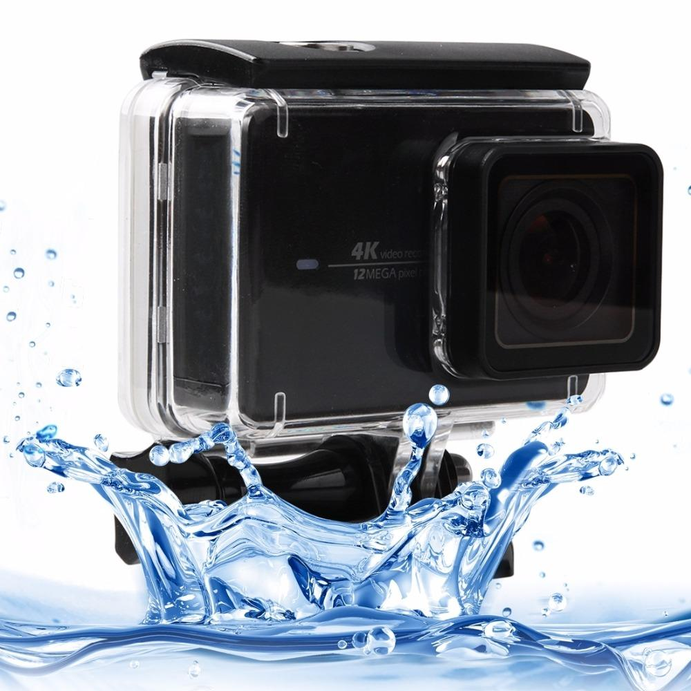 Wholesale- Touch Screen Waterproof Housing Protective Case with Buckle Basic Mount & Screw for Xiaomi yi II 4K Camera Waterproof Depth: 45m