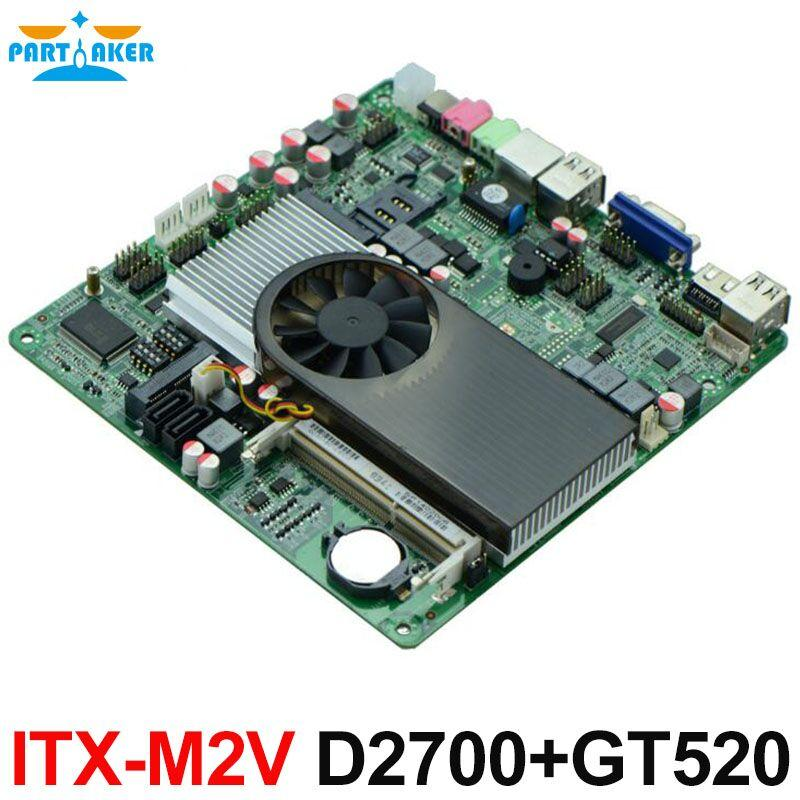 Partaker Slim Mini-ITX Motherboard Atom D2700 with NVIDIA ION3 GT520 for IPC HTPC HDMI VGA Display
