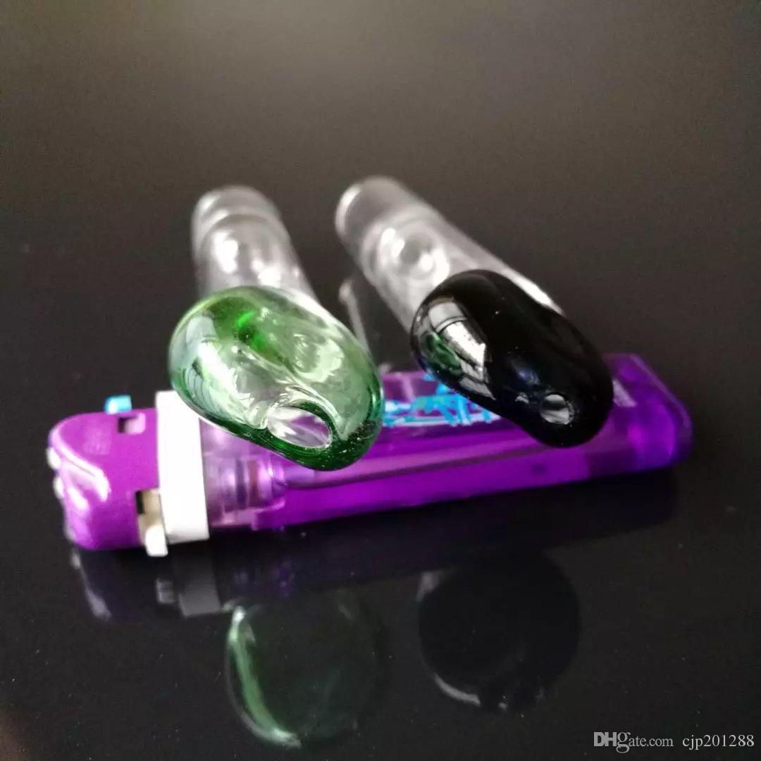 Piatta Raccordo bocca bong accessori, unico del bruciatore a nafta di vetro Bong Tubi Tubi di acqua di vetro tubo di olio Rigs fumatori con contagocce