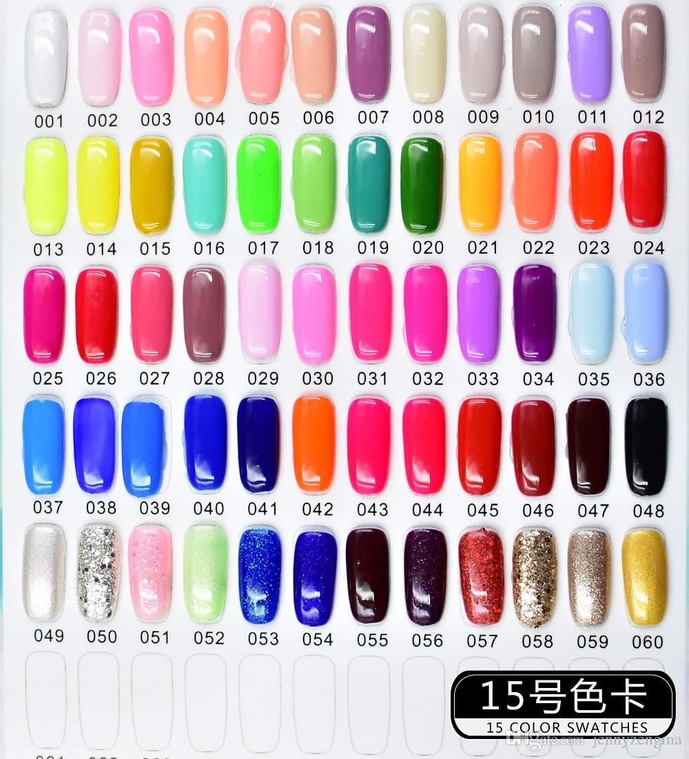 15 Number 8 10ml Nail Polish Long Lasting Holo Gel Nail Polish Nail ...