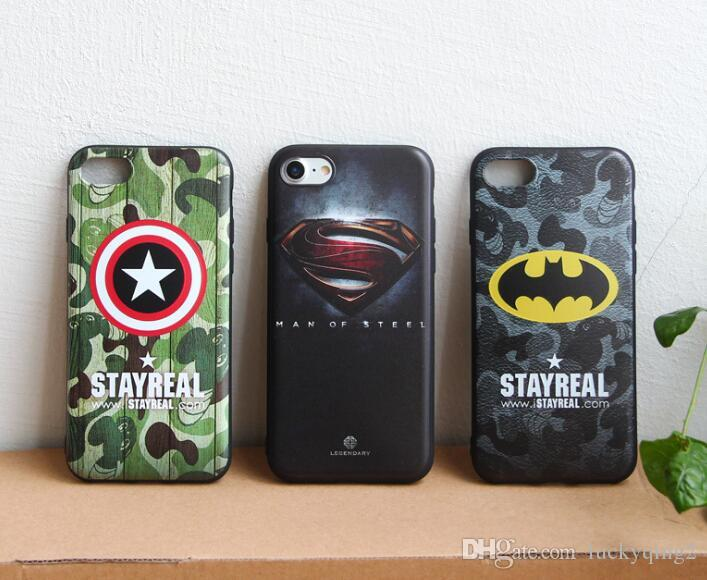 For iPhone 7 Plus 6 6s Plus 5 5s Super hero Cases Crystal Gel Case For iPhone Ultra Soft TPU Clear Case