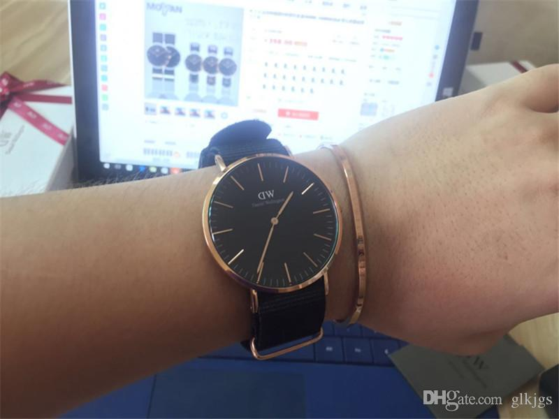 New Men Daniel W watches 40mm Men watches 36 Women Watches Luxury Brand Famous Quartz Wrist Watch Female Relogio Montre Femme