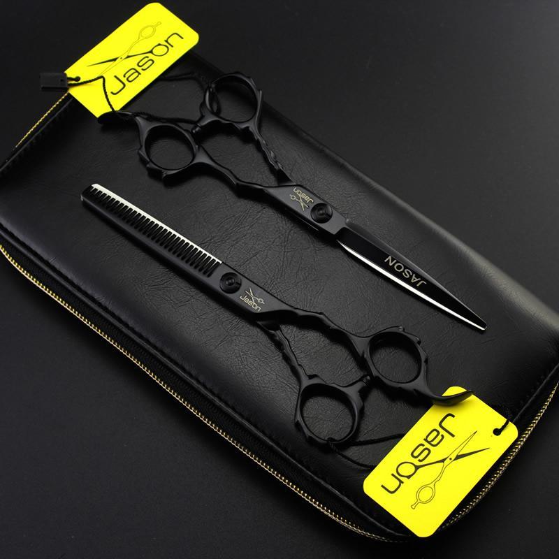 6.0 Inch Jason Professional Forbici da parrucchiere Set Cutting Thinning Scissors JP440C Set cesoie capelli Strumenti lo styling Cesoie da barbiere, LZS0462