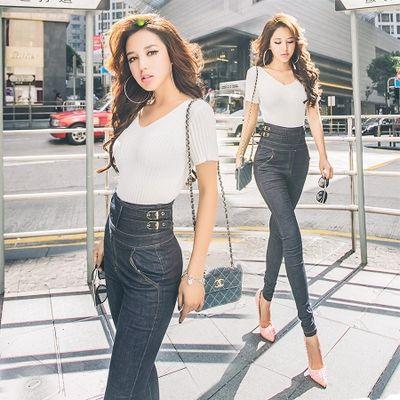 2017 2017 Sexy Women Super High Waist Jeans Korean Style Slim Thin ...