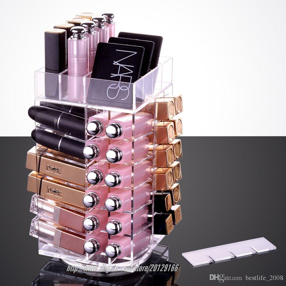 2017 BESTLIFE Best-selling High Quality Acrylic Rotatable Lipstick display HolderL115mmx W115mmxH 255mmBirthday Present