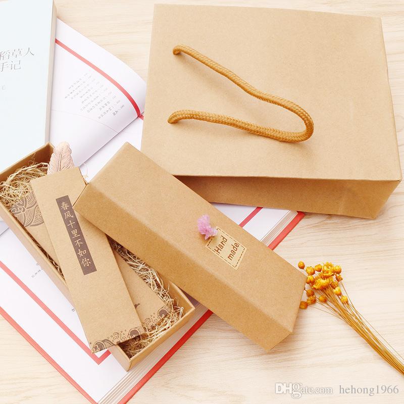Plume Marque-page Rétro En Métal Laiton Créatif Classique Ancien Livre Marqueur Exquis Boîte En Anniversaire Cadeau De Noël Chaud 5 68cj F R